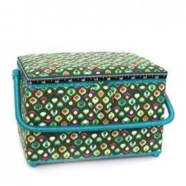 Boîte à couture Vintage taille L - vert