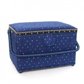 Boîte à couture Constellation - bleu roi