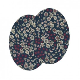 Elbow-pads/Knee-pads Iron On Flowers FrouFrou - Pink of the Indies