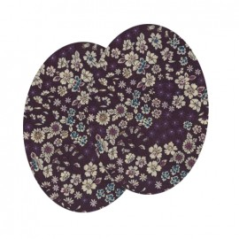 Elbow-pads/Knee-pads Iron On Flowers FrouFrou - Delicate Plum
