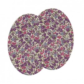 Elbow-pads/Knee-pads Iron On Flowers FrouFrou - Pink Lavander