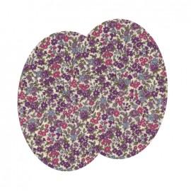 Genouillères-coudières thermocollants Fleuri FrouFrou - Lavande Rosée