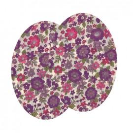 Genouillères-coudières thermocollants Fleuri FrouFrou - Lavande Rose