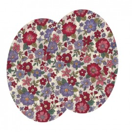 Elbow-pads/Knee-pads Iron On Flowers FrouFrou - Ruby