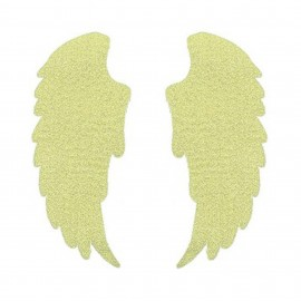 Iron-on patch Wings FrouFrou - Sparkling Gold