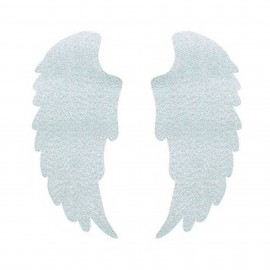 Iron-on patch Wings FrouFrou - Sparkling Silver