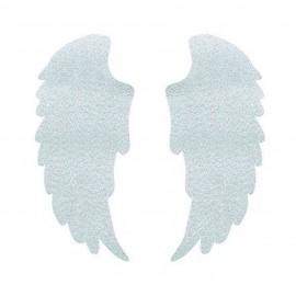 Thermocollant ailes tout ce qui brille FrouFrou - Argent scintillant