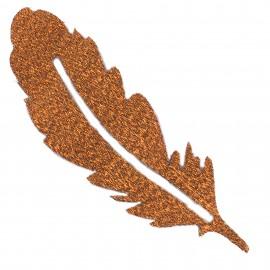Thermocollant plumes tout ce qui brille FrouFrou - Rose cuivre scintillant