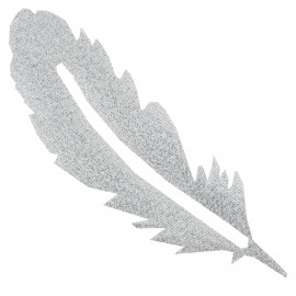 Iron-on patch Feather FrouFrou - Sparkling Silver