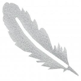 Thermocollant plumes tout ce qui brille FrouFrou - Argent scintillant