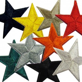 Star 3 cm iron-on applique - color to choose