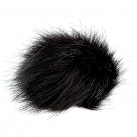 Round-shaped Fur Imitation Pompom - Beige