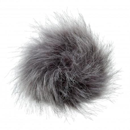 Round-shaped Fur Imitation Pompom - Grey