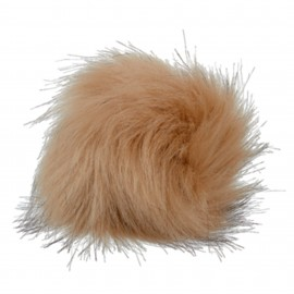Round-shaped Fur Imitation Pompom - Light Dark blond