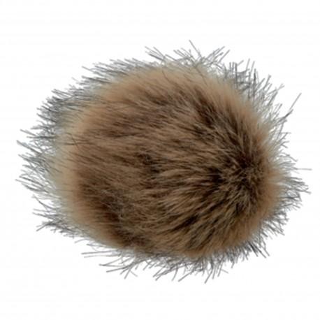 Round-shaped Fur Imitation Pompom - Dark Blond