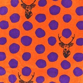Kokka Echino cotton canvas fabric Sambar - orange x  20cm