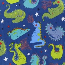 Alexander Henry fabric Baby Dragon - blue x 10cm