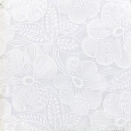 Tissu Organza brodé Lucia - blanc cassé x 10cm