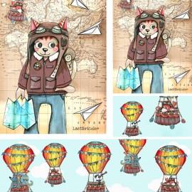 Coupon polyester Laëtibricole - Le kit voyage!