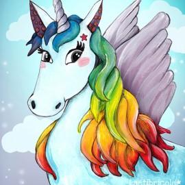 Laëtibricole polyester fabric - Unicorn