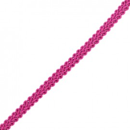 Mini Ear of Wheat Braid Trimming Ribbon 5mm  x 1 m - Violine Pink