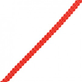 Mini Ear of Wheat Braid Trimming Ribbon 5mm  x 1 m - Bright Red
