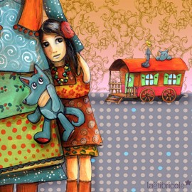 Laëtibricole velvet fabric - Gypsy