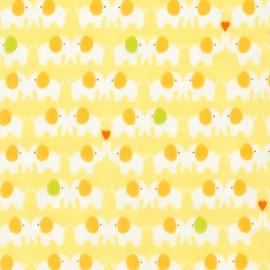 Cotton fabric  Sevenberry Comfy Double Gauze - Sunshine Elephants x 10cm