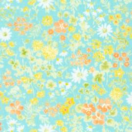 Cotton fabric  Sevenberry Comfy Double Gauze - Aqua x 10cm