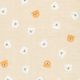 Cotton fabric  Sevenberry Comfy Double Gauze - Brown Bears x 10cm
