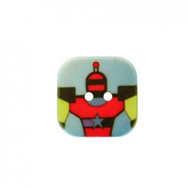 Nono le robot polyester button - blue