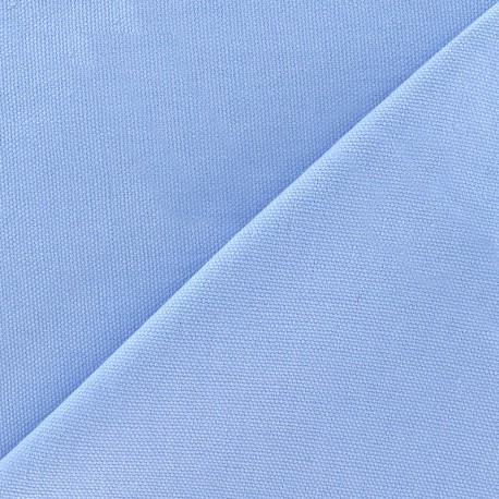 Tissu toile de coton uni CANEVAS - vert vif x 10cm