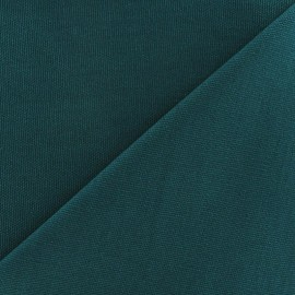 Tissu toile de coton uni Canevas Delson - paon x 10cm