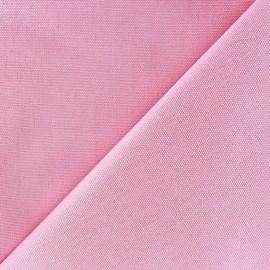 Tissu toile de coton uni Canevas Delson - rose bonbon x 10cm