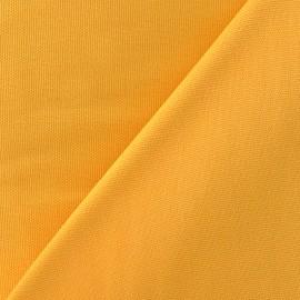 Tissu toile de coton uni Canevas Delson - moutarde x 10cm