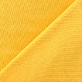 Tissu toile de coton uni Canevas Delson - jaune x 10cm