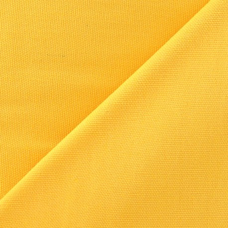 Cotton canvas fabric Delson - yellow x 10cm