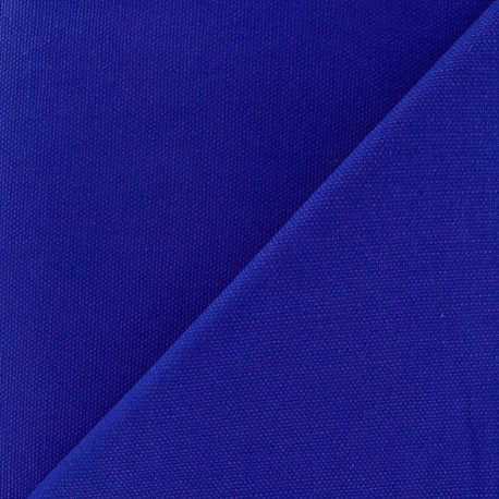 Tissu toile de coton uni Canevas Delson - bleu roy x 10cm