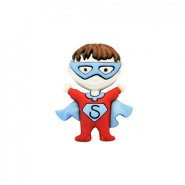 Bouton polyamide Petit hero - superman