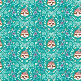 Cotton Fabric Vienna by Jolijou - Green x 20cm