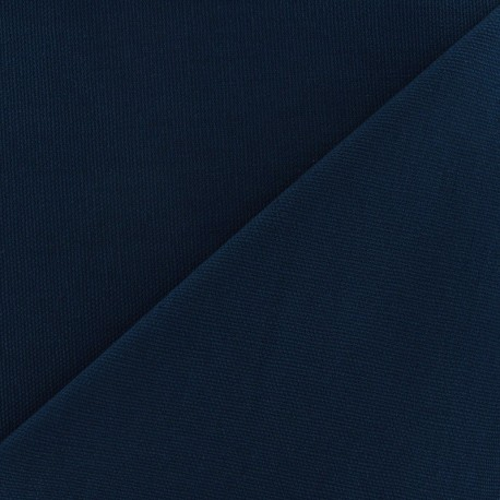 Cotton canvas fabric Delson - night blue x 10cm