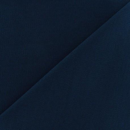 Tissu toile de coton uni Canevas Delson - bleu nuit x 10cm