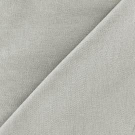 Tissu toile de coton uni Canevas Delson - gris souris x 10cm