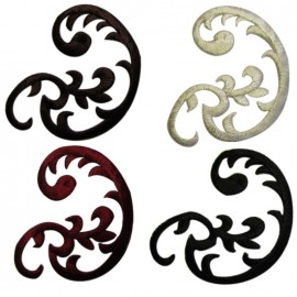 Rounded-shaped arabesque applique - color to choose