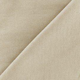 Cotton canvas fabric Delson - light sand x 10cm