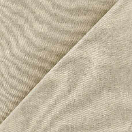 Tissu toile de coton uni Canevas Delson - sable clair x 10cm