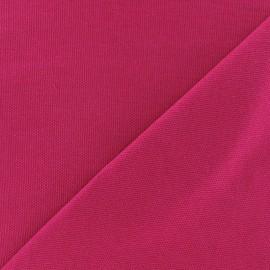 Tissu toile de coton uni Canevas Delson - fuchsia x 10cm