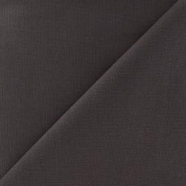 Tissu toile de coton uni Canevas Delson - gris x 10cm