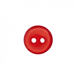 Bouton polyester Vitamine - rouge