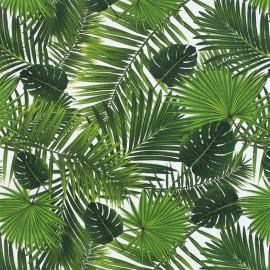 Tissu popeline souple Tropical - vert x 10cm